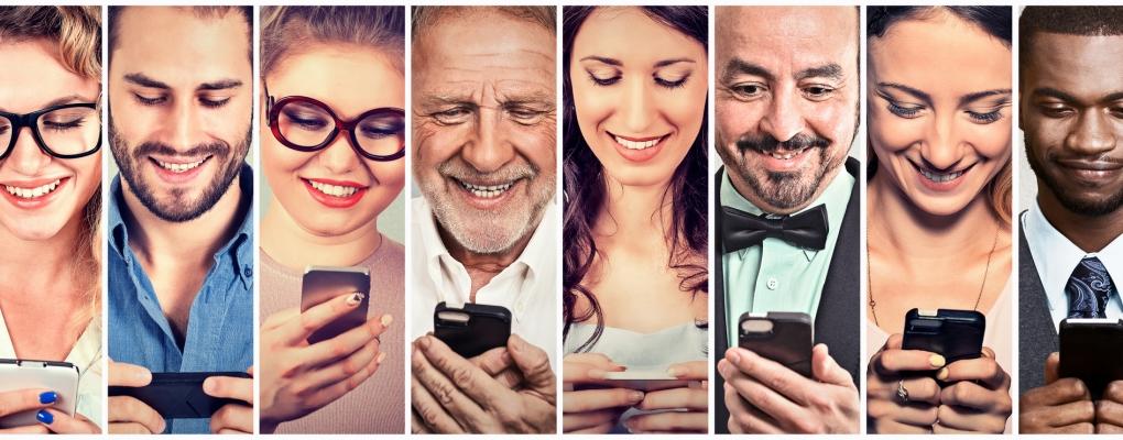 People using Mobile Ssmart Phone